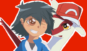 Ash And Latias  by AveryMar