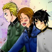 APH:Good friends in3 countries by emily-fopdp
