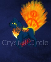 Fire Peacock pup-$ and points Auction (CLOSED!) by CrystalCircle