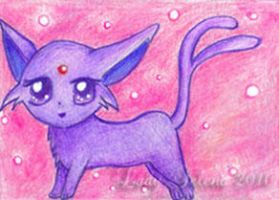 ACEO Chibi Espeon by Susaleena