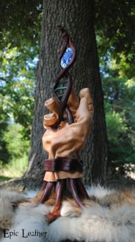 Evolution of Life Leather Sculpture - Front by Epic-Leather