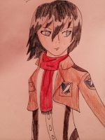 My awkward Mikasa Drawing by Shorter-Than-Levi