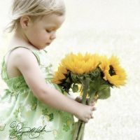 Child Portrait Sunflowers by ForeverCreative