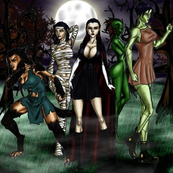 Female Monster Squad by Tzimisce8