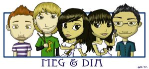The Meg and Dia Band by SeeTheMutt