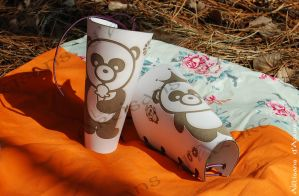 Shaolin Panda Warrior Bracers (April fools) by ArtisansdAzure