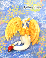 Goldwing dragon with heart 2 by rosepeonie