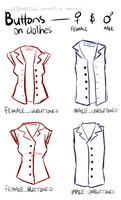 Buttons on clothes by zefiraelRain