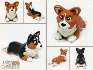 Corgi Pupples by LeiliaClay
