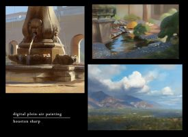Digital Plein-Air Painting - Collection 1 by HoustonSharp