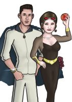 Tracksuit Man and 5 A Day Girl by MHG5