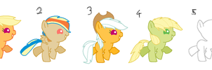 AppleDash Foal Adopts OPEN by Pixie-PonyAdopts