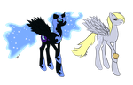 Nightmare Moon and Derpy by aprilj0313