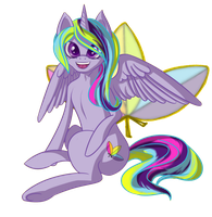 Neon Blossom by fireflytwinkletoes