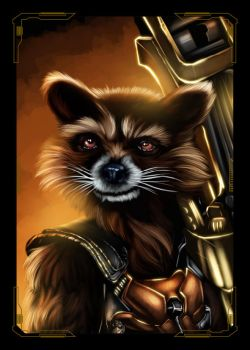 Guardians of the Galaxy Rocket Racoon by NZO68