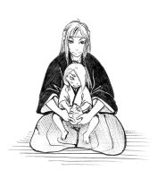 Deidara and his father by RinaIzumo