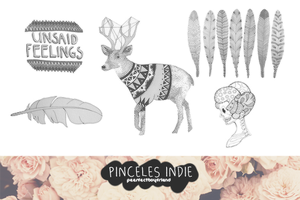 Brushes/Pinceles Indie by Peerfectboyfriend