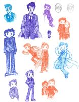 Tenth Doctor Sketch Dump by HailleyPete