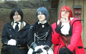 Sebatian, Ceil, and Grell by Only-Hope-Cheatcodes