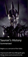 Sauron's History by Thrythlind