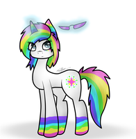 Technocolor Rainbow Pony 1 by MarijaRar