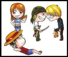 Strawhat chibis by Marvolo-san