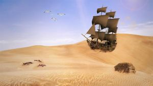 A Ship On A Sea Of Sand by SheepyLife