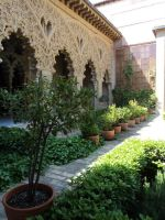 Alfjaferia Palace - the courtyard gardens by trastamara