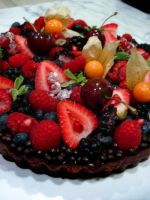 Wild Berry Chocolate Tart by Sliceofcake
