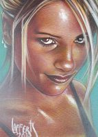 Buffy Sketch Card by JeffLafferty