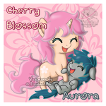 Chibi Cherry Blossom and Aurora by Veemonsito