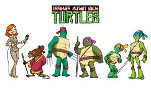 TMNT character designs by andrewchandler80