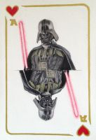 Darth Vader Playing Card by Maria18Borodina