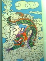 Dragon Mural by JasBones