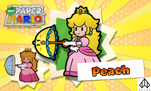 New Paper Mario: Peach by Nelde