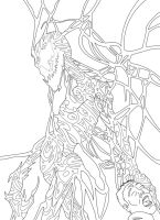 Web of Carnage Lineart by GRIDALIEN