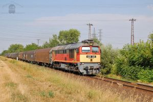 628 325 with freight train in Gyorszabadhegy by morpheus880223