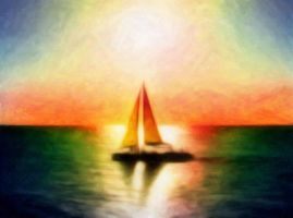 Sailing the Pastel Horizon by Lance-Daniel-Smith