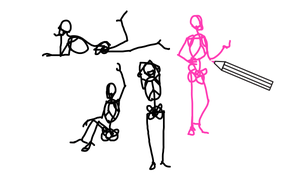 How to draw a stick figure - a real one by LadyAway