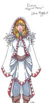 Nimue The White mage NPC by SasshyWasshyKins