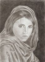 Afghan Girl Portrait by Viacia