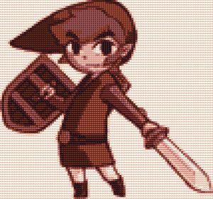 Link Phantom Hourglass Cross Stitch Pattern by shingorengeki