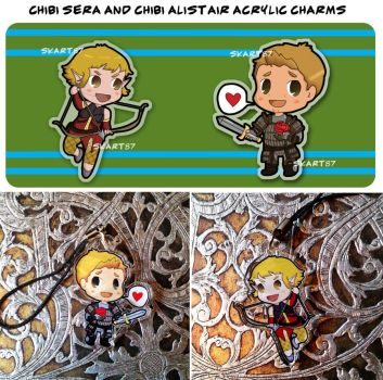 Sera and Alistair acrylic charms by skart2005