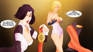 Power Girl Distractions by jackcrowder