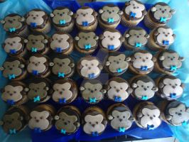 Monkey Cupcakes by PnJLover