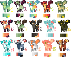 BIG ADOPTS BATCH! [JUST #10 IS OPEN] by oOMintAdoptablesOo