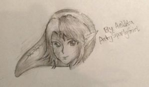 Legend of Zelda: Link Doodle by ArtySpartyGirl