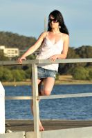 Emma on the jetty 2 by wildplaces