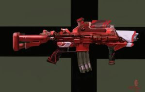 pulse rifle :re design: by beatn1k