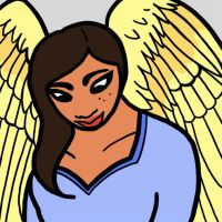 Winged woman by Ikny